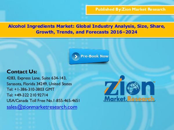 Zion Market Research Alcohol Ingredients Market, 2016–2024
