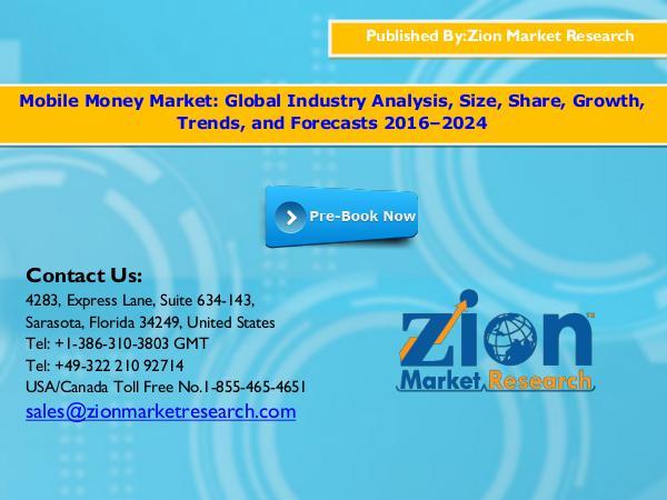 Zion Market Research Mobile Money Market, 2016–2024
