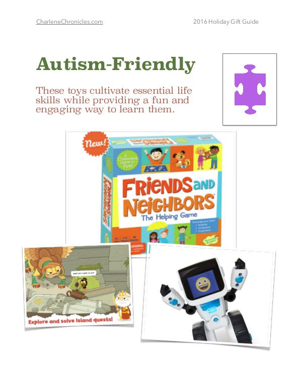 2016 Holiday Gift Guide by Charlene Chronicles Autism Friendly Toys Gift Guide