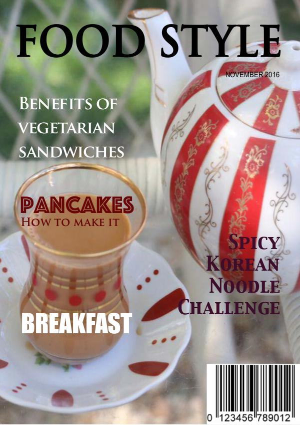 My first Magazine in about food