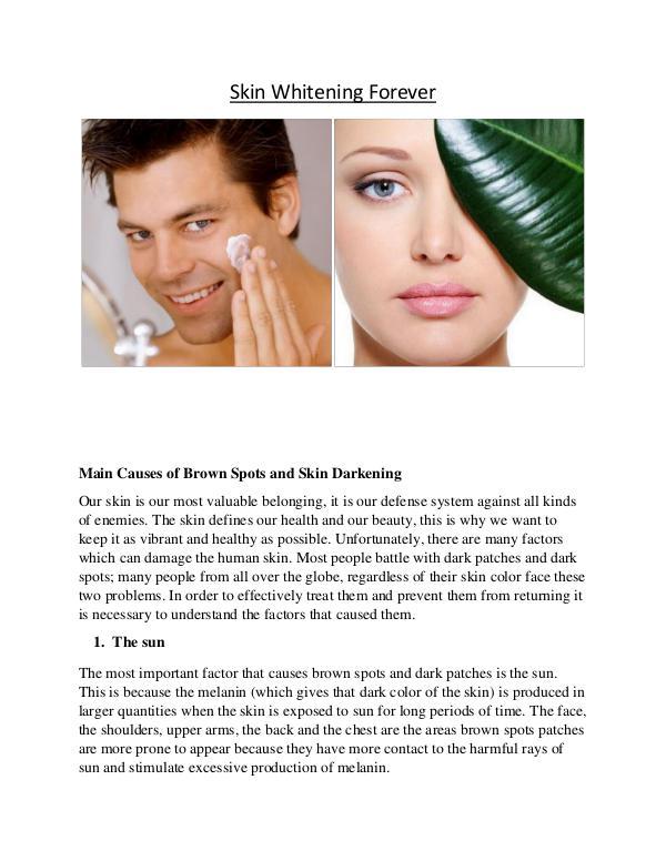 Skin Whitening Forever lightening skin