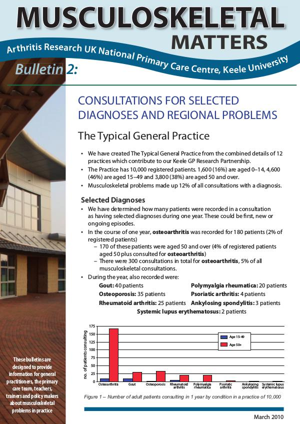 2: Consultations for Selected Diagnoses & Regional