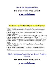 CIS 532 Expect Success/uophelp.com