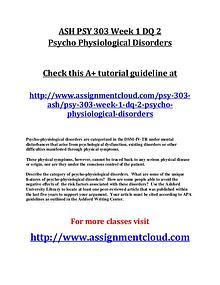 ASH PSY 303 Entire Course