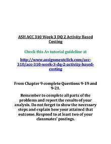 ash acc 310 entire course
