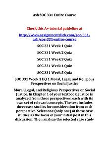 ash soc 331 entire course
