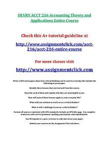 DEVRY ACCT 216 Entire Course