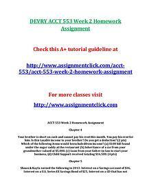 DEVRY ACCT 553 Entire Course