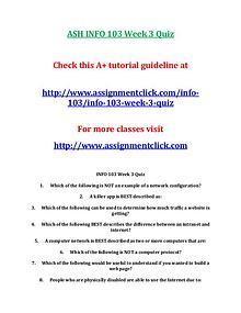 ASH INFO 103 Entire CourseASH INFO 103 Entire Course With Final