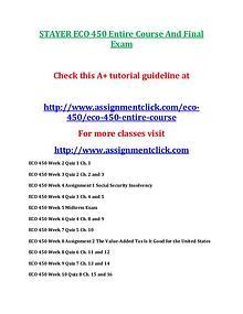 STAYER ECO 450 Entire Course