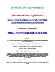 Devry ACCT 346 entire course