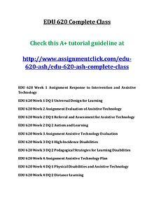 ASHEDU 620 entire course