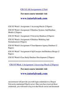 CIS 515 Course Great Wisdom / tutorialrank.com