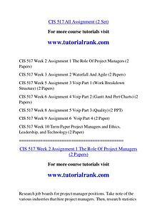 CIS 517 Course Great Wisdom / tutorialrank.com