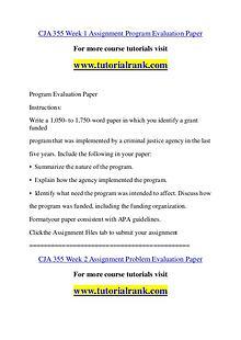 CJA 355 Course Great Wisdom / tutorialrank.com