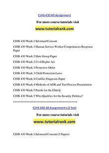 CJHS 430 Course Great Wisdom / tutorialrank.com