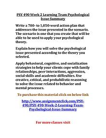 uop psy 490 entire course