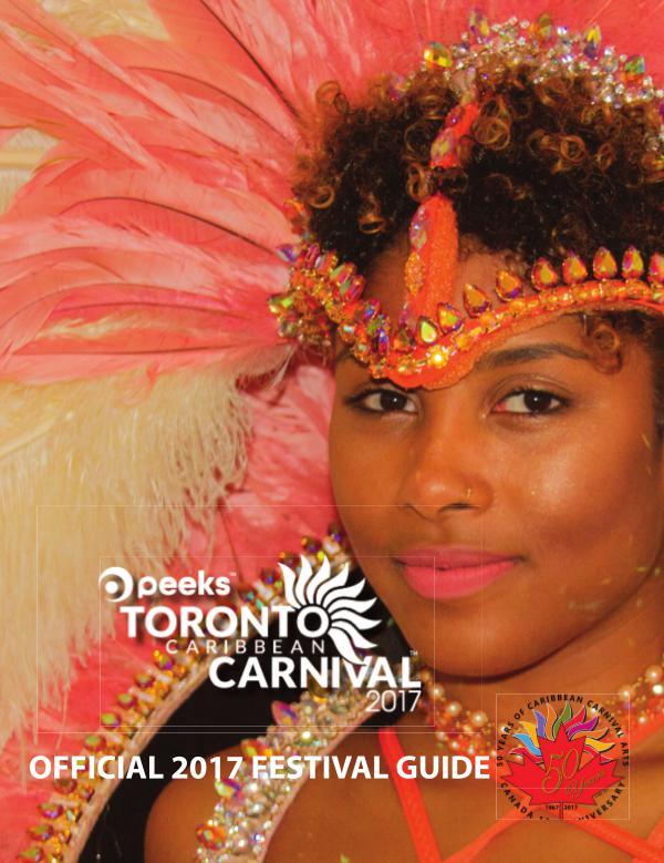Toronto Caribbean Carnival Festival Guide 2017 TCC Festival Guide