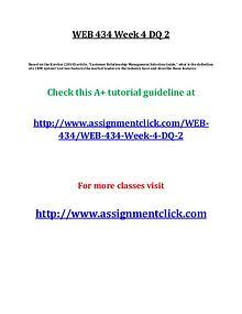 uop web 434 entire course