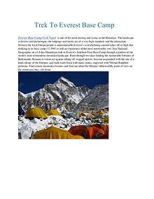 Trek To Everest Base Camp