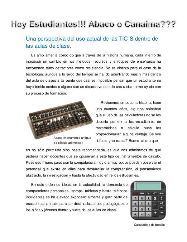 Tecnoeducación al Día Volumen I Primera Edición