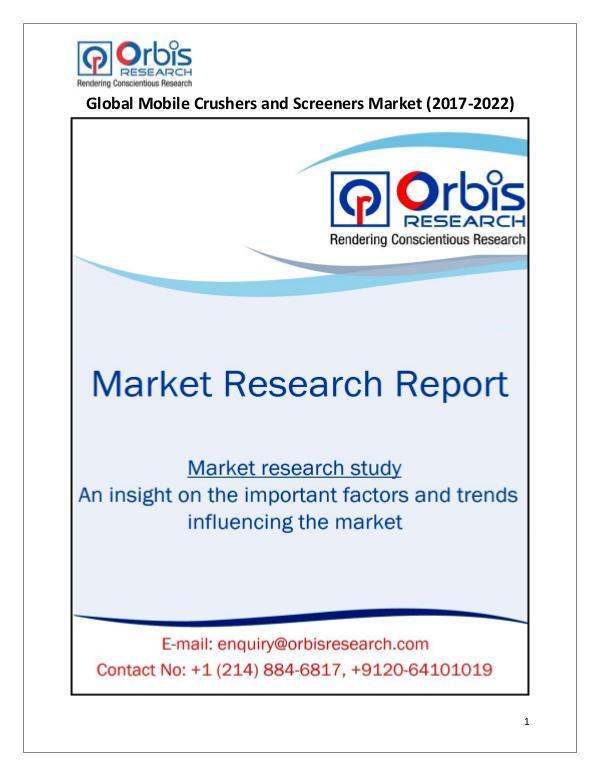 Global Mobile Crushers and Screeners Market