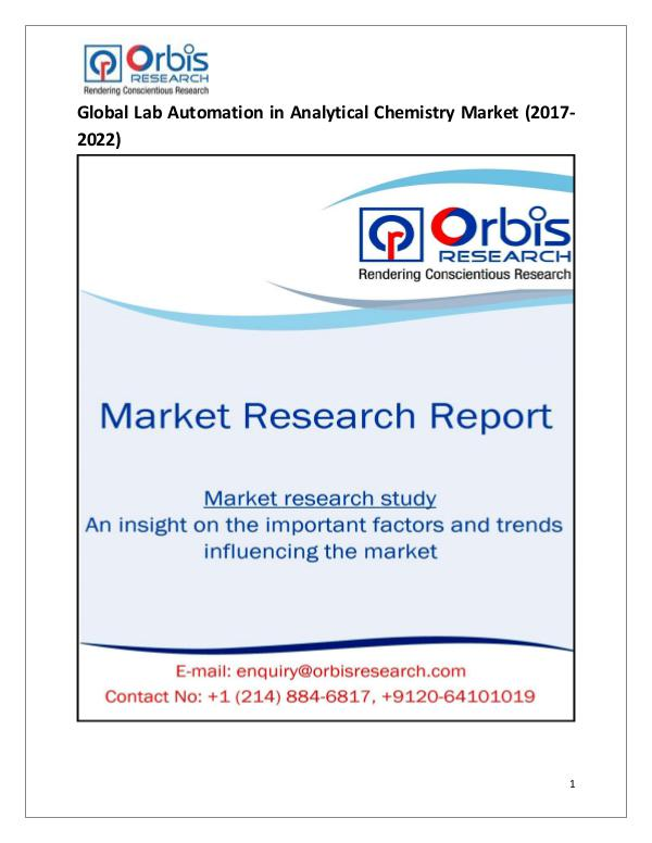 Global Lab Automation in Analytical Chemistry Mark