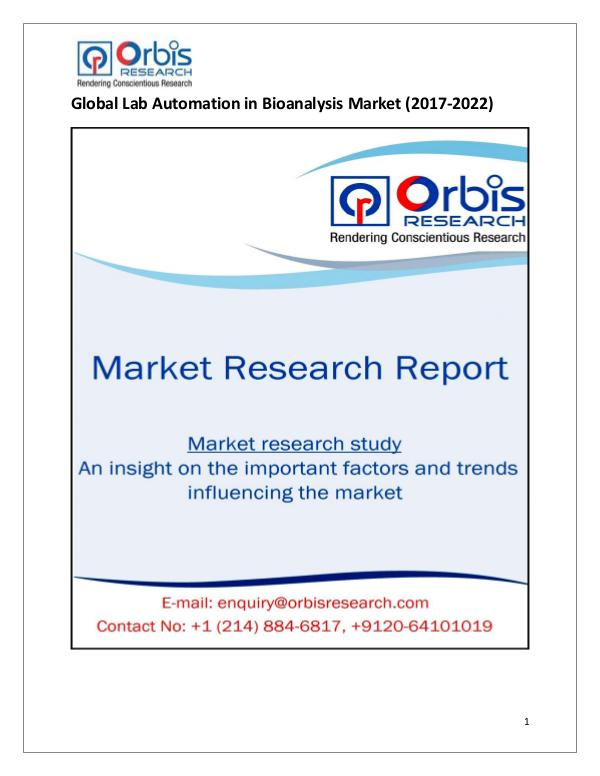 Global Lab Automation in Bioanalysis Market