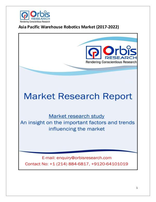 Research Report: Asia Pacific Warehouse Robotics Market