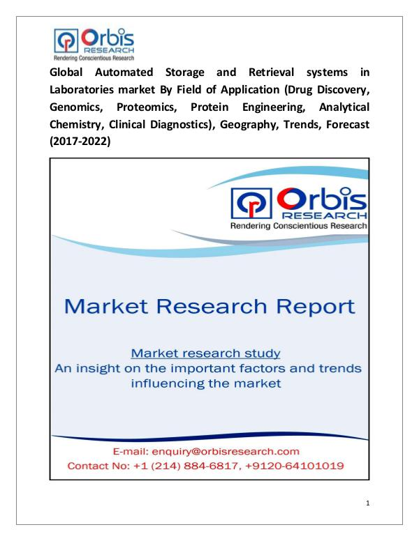 Research Report : Global Automated Storage and Retrieval systems