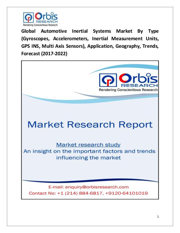 Automotive Inertial Systems Market 2017