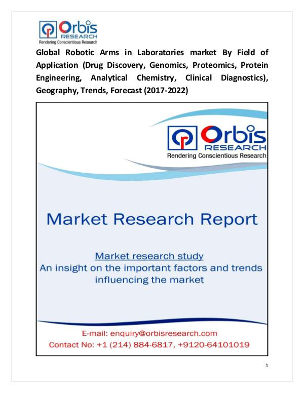 Global Robotic Arms in Laboratories Market
