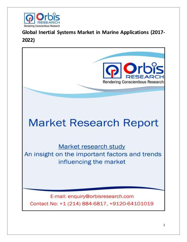 Research Report : Global Inertial Systems in Marine Applications Mar