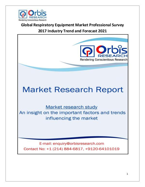 Global Respiratory Equipment Market Professional S
