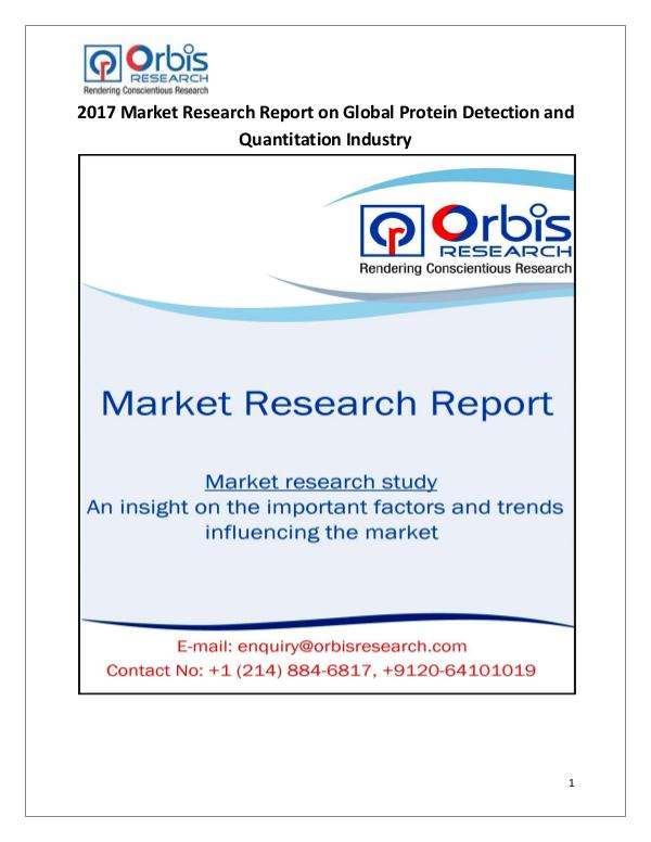 Global Protein Detection and Quantitation Market