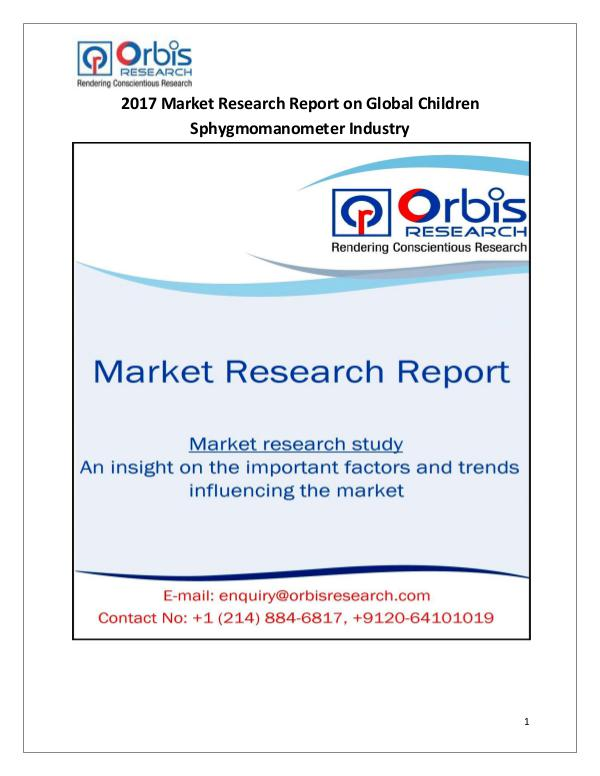 Global Children Sphygmomanometer Market