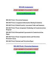 BSS 481 STUDY Future Starts Here/bss481study.com