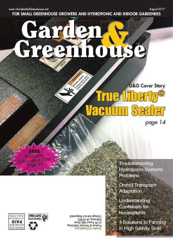 Garden & Greenhouse August 2017 Issue