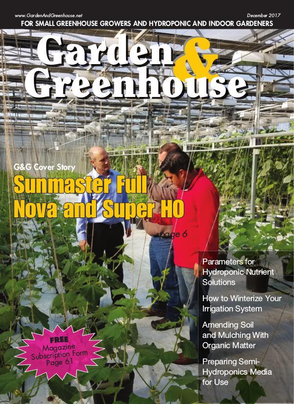 Garden & Greenhouse December 2017
