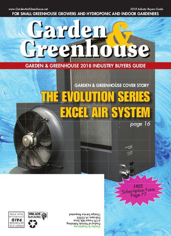 Garden & Greenhouse 2018 Buyers Guide