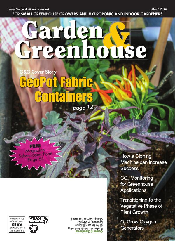 Garden & Greenhouse March 2018 Issue