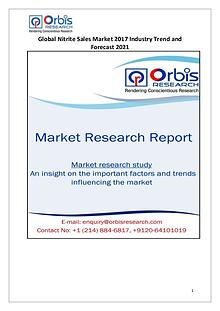 Global Nitrite Sales Market 2017-2021 Forecast Research Study
