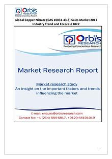 2017 International Global Copper Nitrate Sales Market