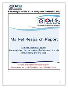 Global Oxygen Market from 2016 to 2021