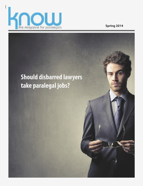 KNOW, the Magazine for Paralegals Spring 2014