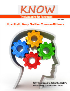 KNOW The Magazine for Paralegals KNOW The Magazine for Paralegals