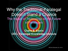 Why the Traditional Paralegal Doesn't Stand a Chance