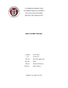 Diseño estructurado. UFT CABUDARE - LARA