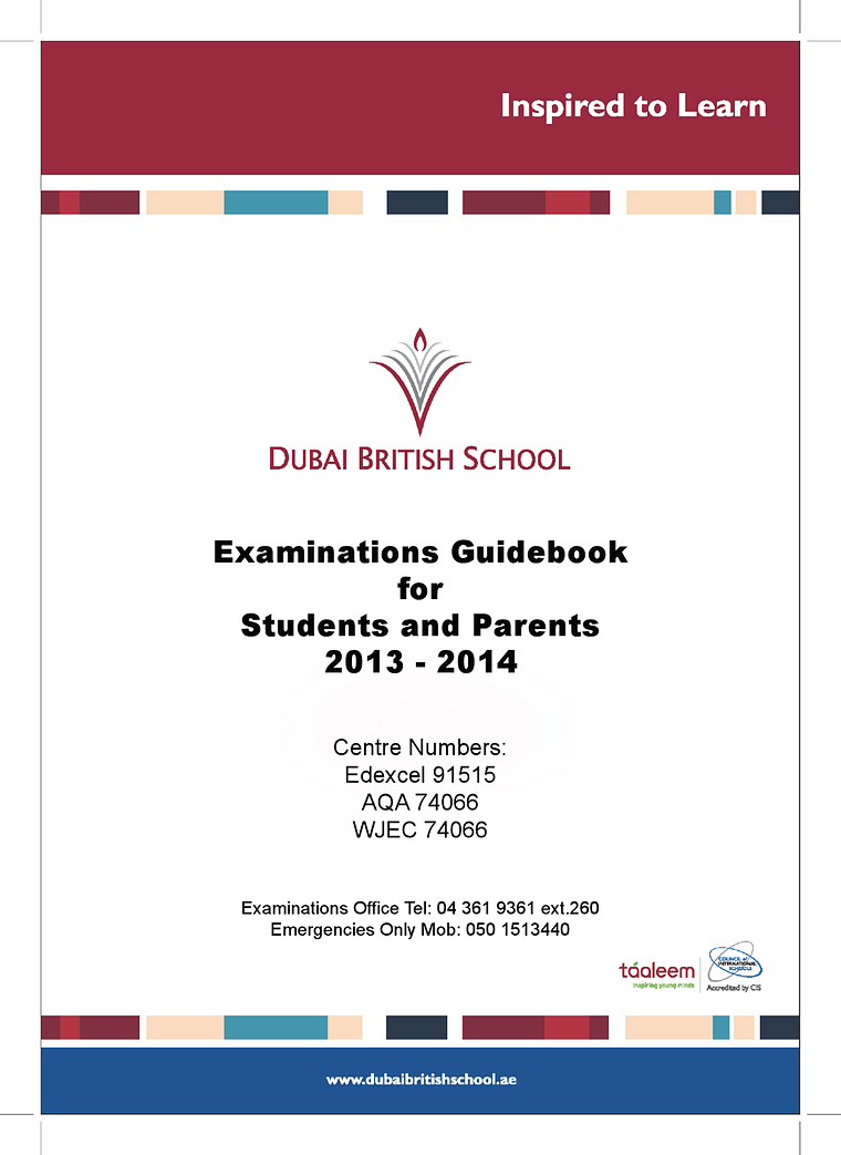 Examinations Guidebook
