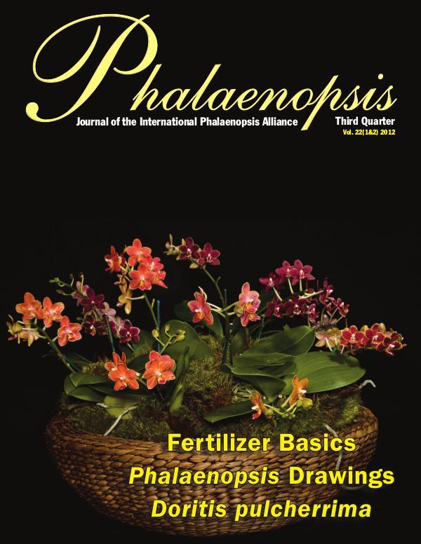 Phalaenopsis Journal Third Quarter 22(1&2) 2012